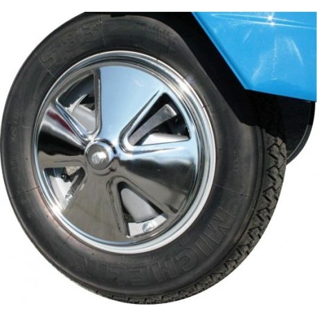 Cover chromed 10-inch wheel