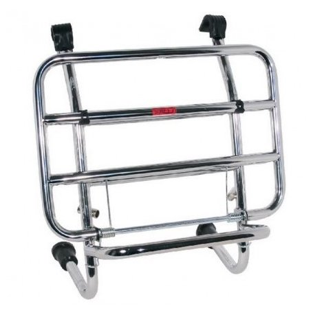 Special Chromed front luggage carrier with rods for vespa px