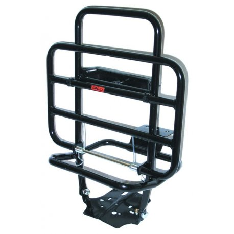 Black painted rear luggage carrier vespa