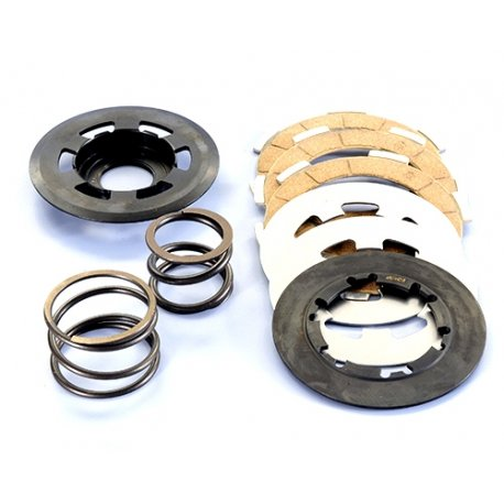 Kit clutch polini single-spring vespa smallframe, with double spring and carbon steel clutch plates