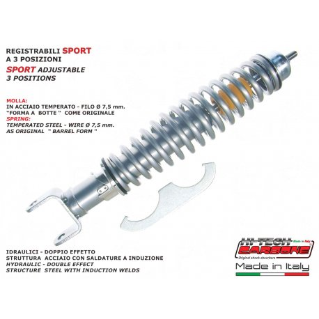 Rear shock absorber made in italy by carbone