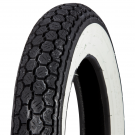 Tyre continental 3.00-10 white band - WW K62 50J