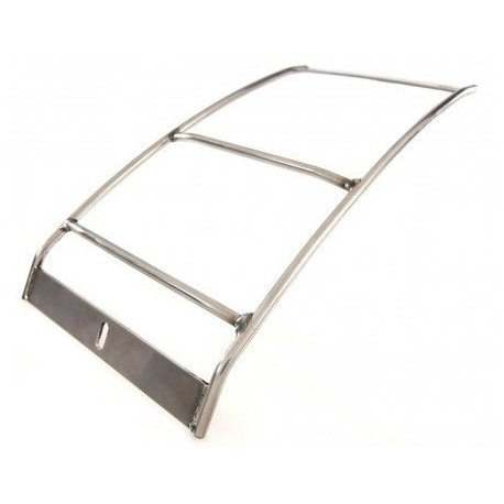 Rear luggage carrier chrome-plated
