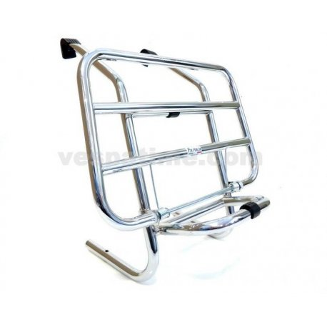 Universal front luggage carrier with extended legs for all vespas