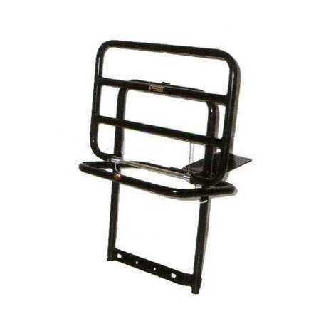 Black painted rear luggage carrier vespa px