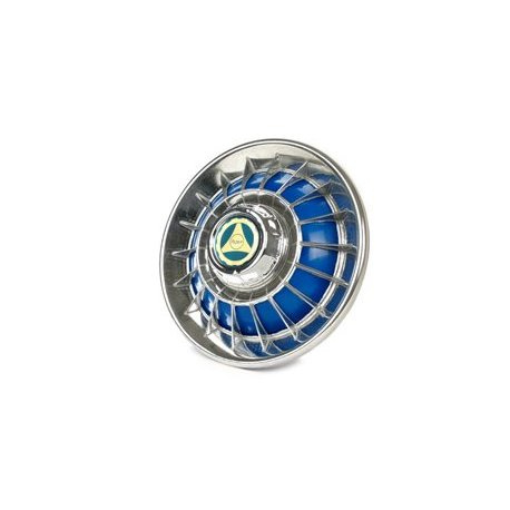 Chrome-plated/blue wheel cover for 8-inch wheels