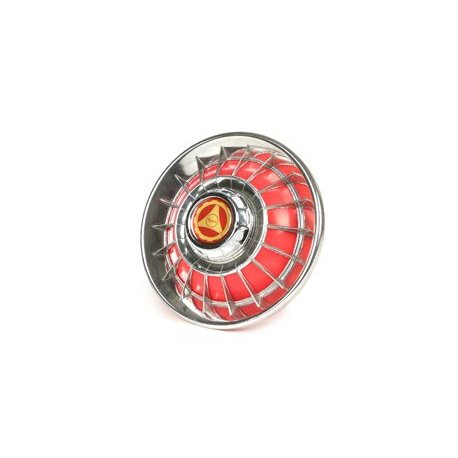 Chrome-plated/red wheel cover for 8-inch wheels