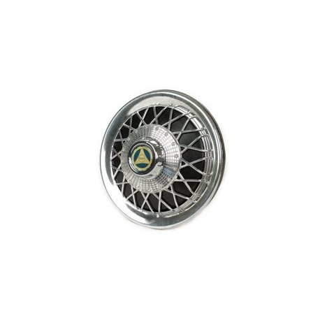 Chrome-plated/black wheel cover for 10-inch wheels