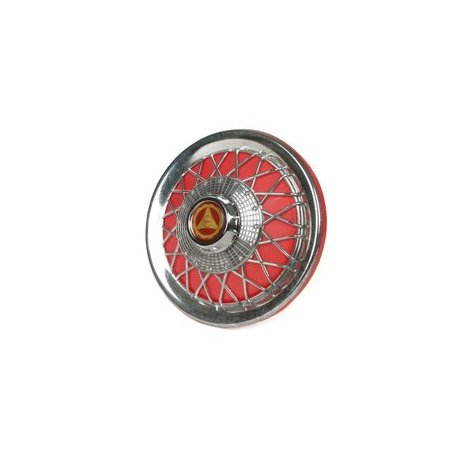 Chrome-plated/red wheel cover for 10-inch wheels