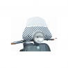 Low windscreen with logos for vespa px with fittings