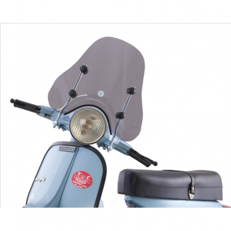 Mini windscreen dark smoke for vespa px with fittings