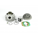 Cylinder PARMAKIT SP09-CLASSIC 130CC with head side spark plug hole with oval outlet. 135cc, Vespa 50/90/125 Primavera/ET3/PK
