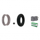 Pneumatic-rim-inner tube kit 3.00x10