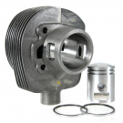 Cylinder and piston cc 125 for vespa 60s/70s, two ports