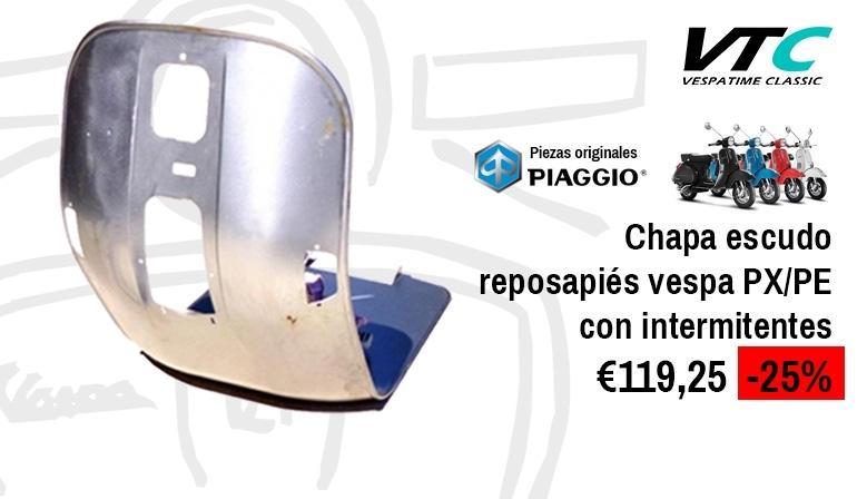 Chapa escudo reposapiés vespa px/pe con intermitentes - piaggio