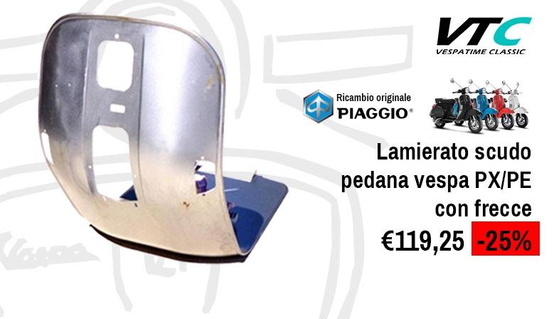 Lamierato scudo pedana Vespa PX-PE con frecce