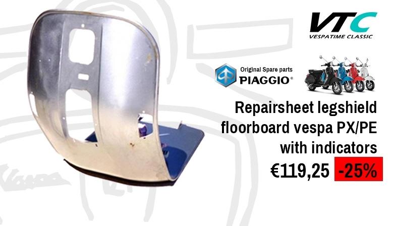 Repairsheet legshield floorboard vespa px/pe with indicators - piaggio